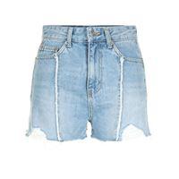 SJYP shorts denim con frange - blu