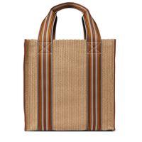 Loro Piana borsa the suitcase stripe in canvas