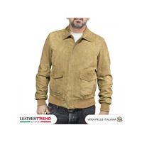 Leather Trend Italy aviatore uomo in pelle vera camoscio nabuk
