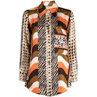 Pierre-Louis Mascia camicia con stampa - arancione