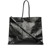Medea borsa tote con effetto stropicciato - nero