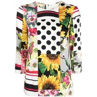 Dolce & Gabbana blusa con stampa - bianco