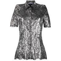 Paco Rabanne camicia a fiori - argento