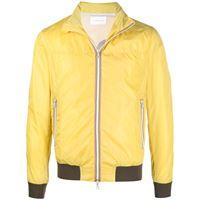 Low Brand giacca con dettagli a contrasto - giallo