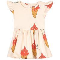 nadadelazos - strawberry ice cream vestito beige - bambina - 18 mesi - beige