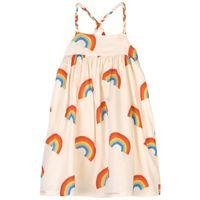 nadadelazos - rainbows vestito ivory - bambina - 4 anni - ecru - avorio