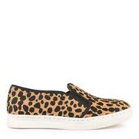 Chatelles bambino - mini leo leopard print leather slip-on shoes - unisex - 25 - marrone