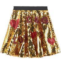 Dolce & Gabbana bambino - gonna mini me con lustrini - bambina - 6 anni - color oro