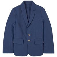 Lanvin bambino - navy seersucker suit jacket - bambino - 8 anni - navy