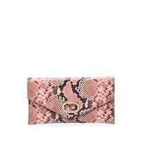Dee Ocleppo clutch con stampa serpente - toni neutri
