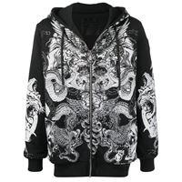 Philipp Plein giacca con zip - nero
