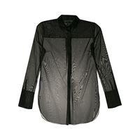 Alcaçuz camicia semi trasparente lia - nero