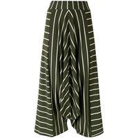 Alcaçuz pantaloni crop marcela con stampa - verde