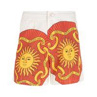 Amir Slama shorts sol con stampa - bianco