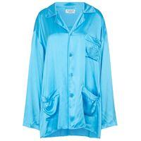 Balenciaga blusa pigiama in raso di seta