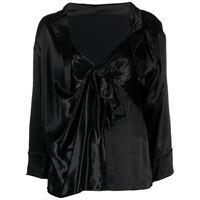 Alexander Wang camicia drappeggiata - nero