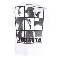 Junya Watanabe t-shirt con stampa playboy - bianco