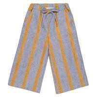 paade mode pantaloni sasha a righe in lino e cotone