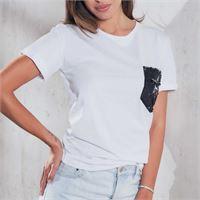 Jadea t-shirt mezza manica 4150 con paillettes reversibili da donna jadea