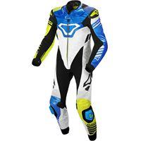 Macna tracktix tuta intera blu, bianco, giallo