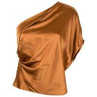 Michelle Mason top monospalla - marrone