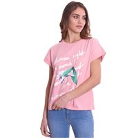TRUSSARDI JEANS t-shirt trussardi stampata girocollo boxy fit