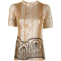 Paco Rabanne t-shirt con effetto jacquard - effetto metallizzato