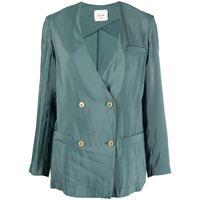 Alysi blazer doppiopetto - verde