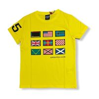 Aspen polo club - t-shirt mezza manica bandiere bambino
