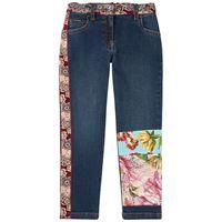 Dolce & Gabbana bambino - floral denim jeans navy - bambina - 6 anni - navy