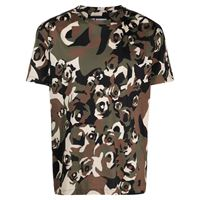 Les Hommes t-shirt con stampa camouflage - verde