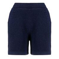 Barrie shorts a coste - blu
