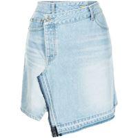 SJYP minigonna denim a portafoglio - blu
