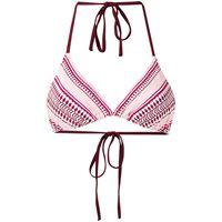 lemlem top bikini con stampa geometrica - rosso
