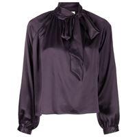 Michelle Mason blusa con fiocco - viola
