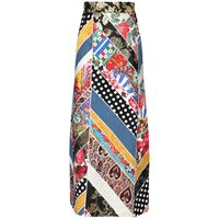 DOLCE & GABBANA gonna a-line in broccato patchwork jacquard