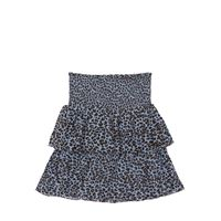 LES COYOTES DE PARIS gonna in georgette leopard