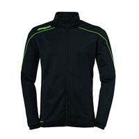 uhlsport stream 22 classic jacke, giacca per bambini, verde fluo/nero, 152