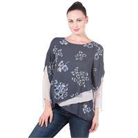 Officina della Moda blusa fantasia made in italy con voile