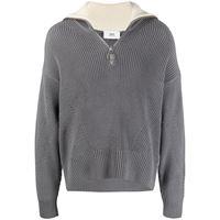AMI Paris maglione con zip - grigio