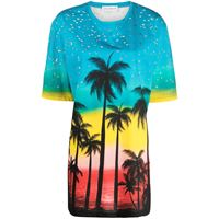 Faith Connexion t-shirt con stampa oversize - blu