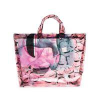 Comme Des Garçons Shirt borsa tote con stampa - rosa