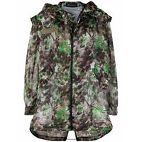 Mr & Mrs Italy parka blossom con stampa camouflage - verde