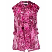 Mr & Mrs Italy trench blossom camouflage - rosa