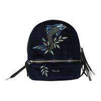 Pollini zaini e marsupi donna velluto blu blu navy one size