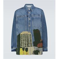 LOEWE x ken price - camicia di jeans la series
