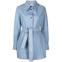 L'Autre Chose cappotto con cintura - blu