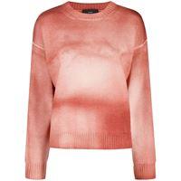 Alanui maglione con fantasia tie dye - rosa