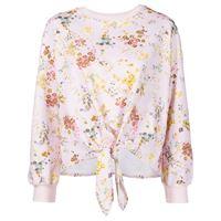 Cinq A Sept maglione sakura a fiori - rosa