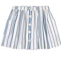 Jacadi - white and blue stripe skirt - bambina - 6 anni - bianco